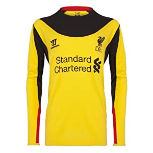 Warrior Kids Liverpool Football Club Away GK Long Sleeve - Vibrant Yellow, Medium by Warrior