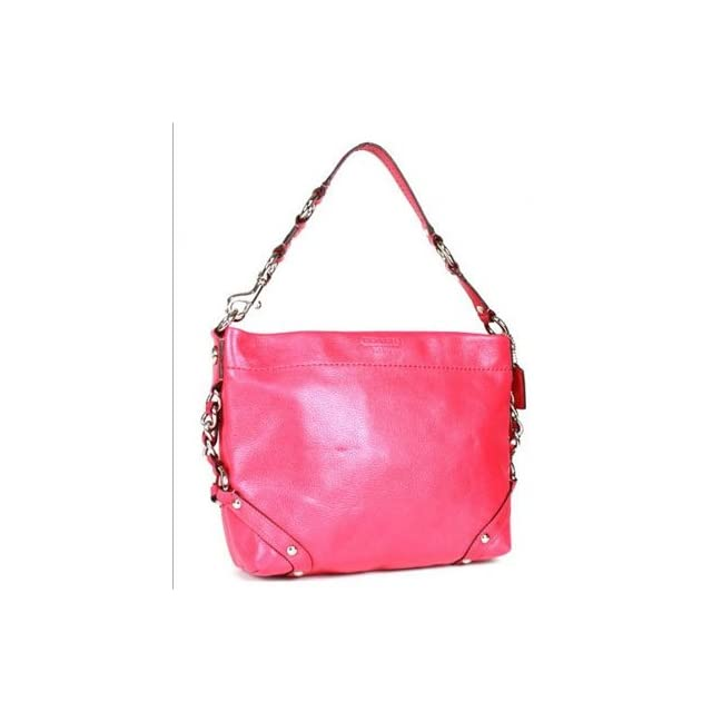 74885f63901d Coach Leather Carly Duffle Shoulder Hobo Bag Purse Tote 15251 Pink ...
