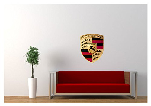 Large Porsche Wall Sticker Logo 18″x20″