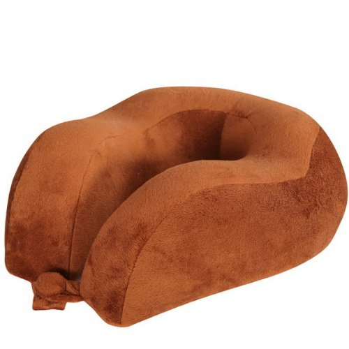 Great Deal! Simsii Memory Foam Ergonomic Travel Pillow Neck Pillow (Brown)