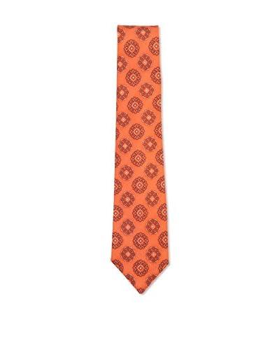 Kiton Men's Medallion Tie, Orange