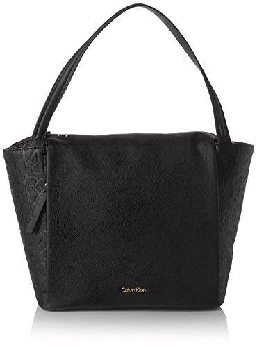 Calvin Klein JeansMISH4 LARGE TOTE - Borsa con Maniglia Donna , Nero (Nero (Black 001)), 14x30x27 cm (B x H x T)