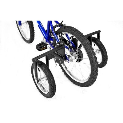 Bike USA Junior Stabilizer Wheel Kit (Black, 20-Inch) - Heavy-Duty BMX Training Wheels