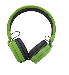 BYTE CORSECA DMHW 3213 GREEN STEREO WIRED HEADPHONE WITH MIC 3.5