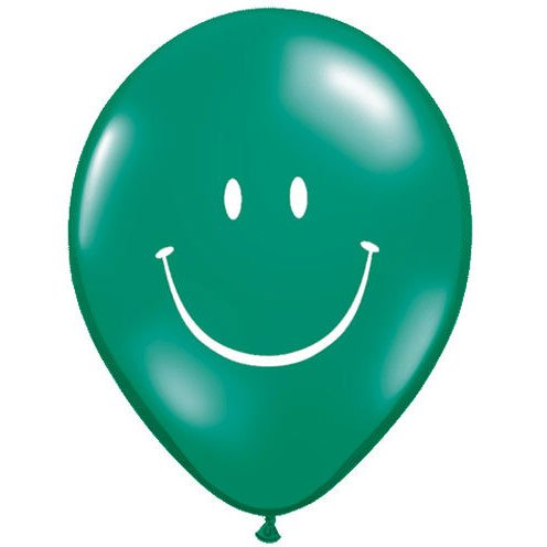 "11"" Smile Face Jewel Tones Balloons (10 ct)"