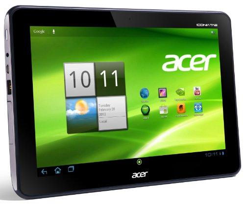 Acer Iconia A200 25,7 cm (10,1 Zoll) Tablet-PC (NVIDIA Tegra2 Dual-Core, 1GHz, 1GB RAM, 32GB Flashspeicher, Android 4.0) titanium grau
