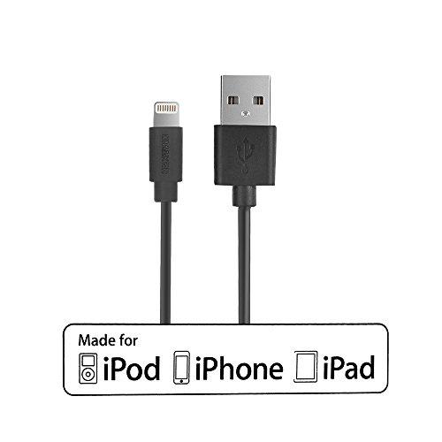 [AppleMFI認証]OmakerUSBlightningケーブル8pin iPhone6/6plus,iphone5s/5c/5 ipad ipod用 充電データ伝送1m (ブラック)