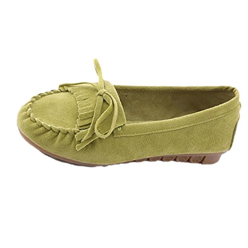 Tenworld Women Driving Shoes Slip On Comfort Casual Flat Loafers Shoes (6, Green) (Display Cases With Curve Glass compare prices)