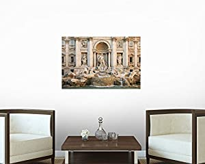 Fontaine Trevi Wall Decal - 72 Inches W x 48 Inches H - Peel and Stick Removable Graphic