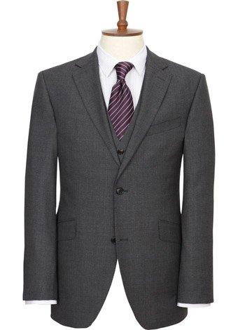 Austin Reed Contemporary Fit Grey Sharkskin Jacket LONG MENS 44