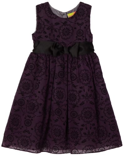 Penelope Mack Sheer Flocked Dress for girls