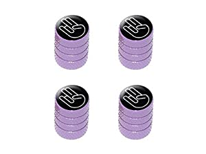Shocker Hand Gesture - Tire Rim Valve Stem Caps - Purple