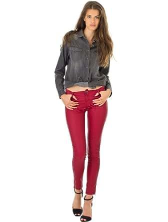 Jeans Jeg Zip Power Shiny Absolute Red TEDDY SMITH W26 Femme