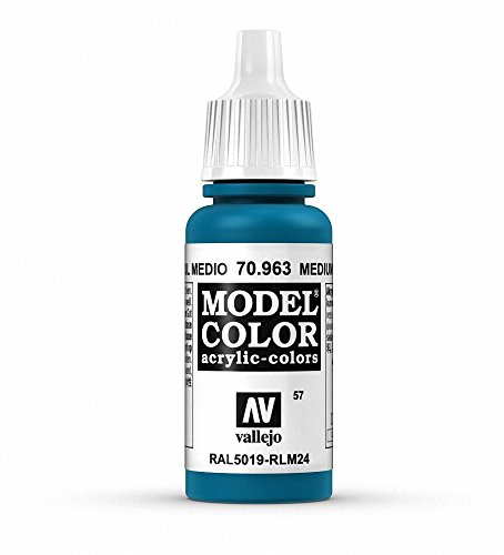Vallejo Medium Blue Paint, 17ml