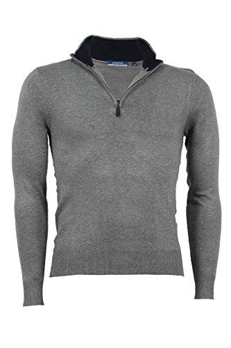 Pullover mezza zip Aigle grigio, XL