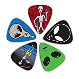 Pack of 5 Alien themed Guitar Picks PIC0231