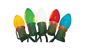Celebrations Led C9 Ceramic Light Set 16' Multi-Colored Lights