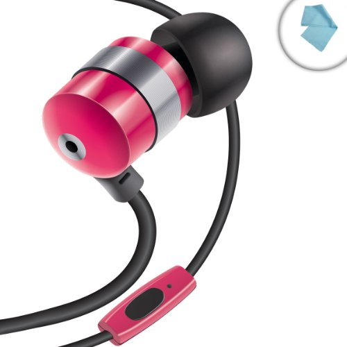 Gogroove Audiohm Hf Ergonomic Earbuds Earphones W/ Hands-Free Microphone & Deep Bass ( Royal Red ) For Smartphones , Tablets , Mp3 Players & More!