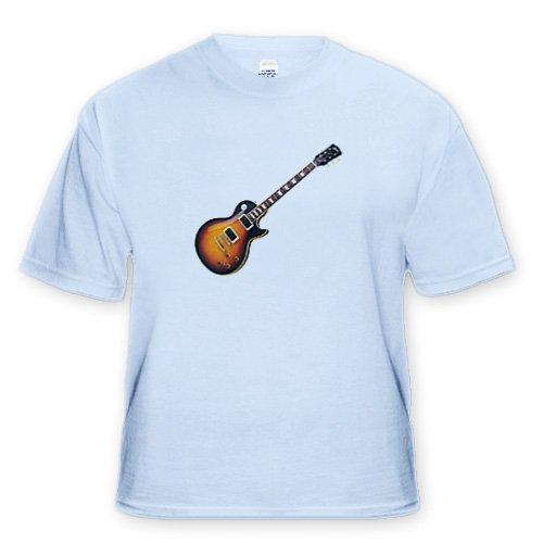 Gibson Guitar - Adult Light-Blue-T-Shirt Medium