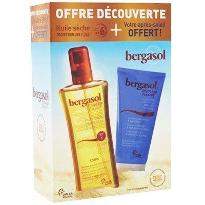 Bergasol Huile Sèche SPF 6 125 ml + Après-Soleil Crème Hydratante et Prolongatrice de Bronzage 150 ml Offerte