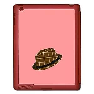 Skin4gadgets Hipster Pattern- Hat, Color - Salmon Tablet Designer SMART CASE for IPAD 3