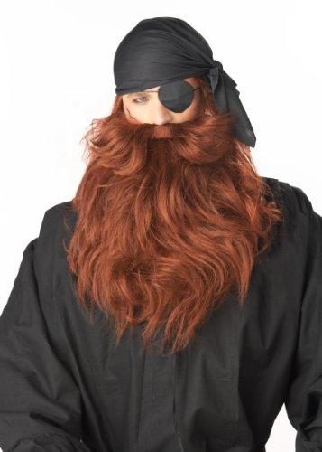 California Costumes Men's Pirate Beard and Moustache -