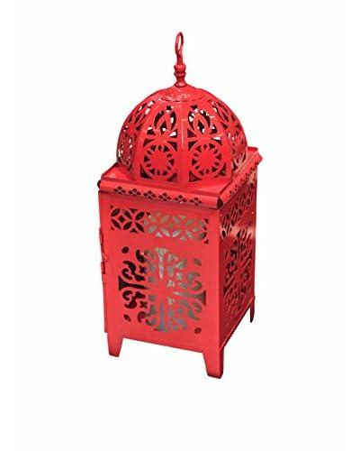 Winward Metal Bohemian Lantern, Red
