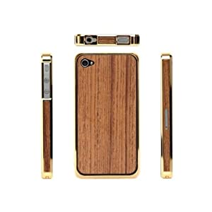 Luxury Golden and Teak Wood iPhone 4S Case