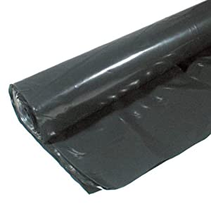 Warp Brothers 12-4CH10B 4 Mil Black Plastic Sheeting, 10-Foot by 25-Foot