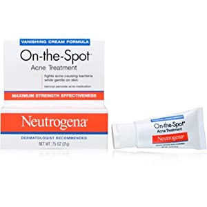 Neutrogena On-The-Spot Acne Treatment Vanishing Cream Formula Facial Treatment Products