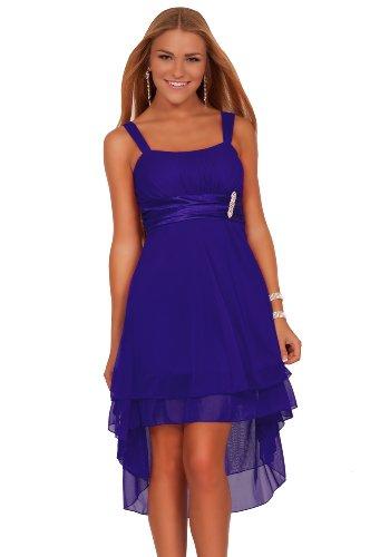 Junior Sleeveless Sheer Gathered Satin Layered Knee Length Evening Cute Dress