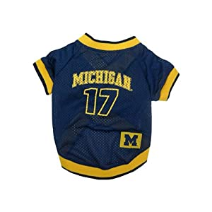 Pets First Michigan Wolverines Jersey Large