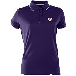 Antigua Ladies Washington Huskies Elite Desert Dry Xtra-Lite Moisture Managemen by Antigua