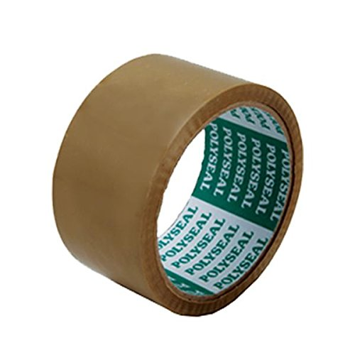 OPP RUBBER SOLVENT PACKAGING TAPE HEAVY DUTY SEALING CARTONS, 2 Inch x 45Yards ,brown, 2pcs (King Kraft Spatula compare prices)