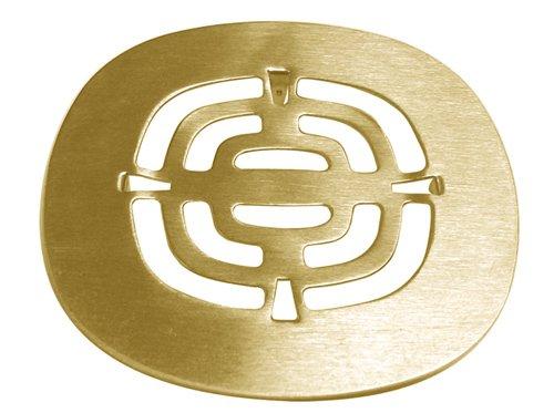 Belle Foret BFNSD02PB Snap-In Shower Strainer, Polished Brass