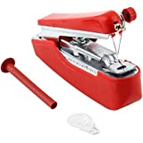 Jökul - Manual Sewing Machine for Easy Repair of Fabric and Clothes. Home & Travel Use Mini Mobile Portable Hand-held Sewing Machine. Great for Home or Travel Use (Red)