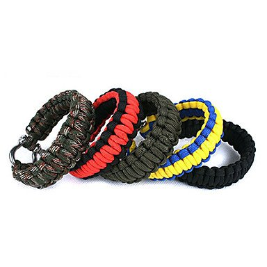 Zcloutdoor Survival Wrist Strap , Blue And Yellow