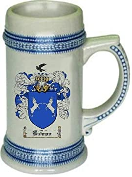Kidman Family Crest Stein / Coat of Arms beer mug
