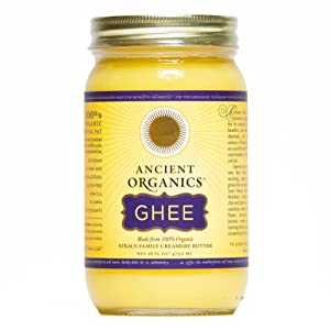 100% Organic Ghee from Grass-fed Cows, 16oz