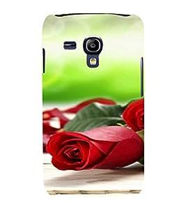 PrintVisa Rose Design 3D Hard Polycarbonate Designer Back Case Cover for Samsung Galaxy S3 Mini