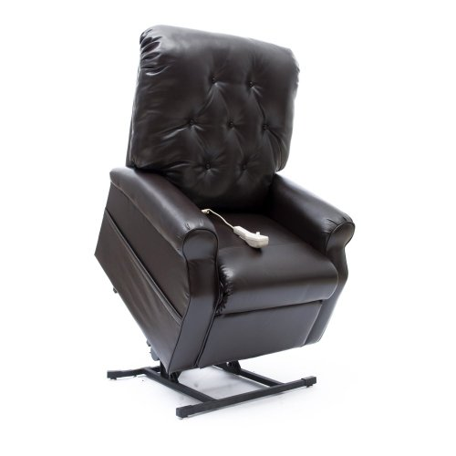 Wayne 3-Position Reclining Power Lift Chair – Chestnut Vinyl