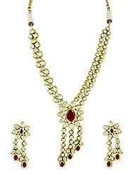 Bridal Jewellery Set Vilandi Double Line With Pan Shaped Pendant