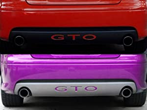 2004-06 PONTIAC GTO Rear Bumper Valence Vinyl Inserts Decals Letters - 38 Colors to choose from (Color :: Red)