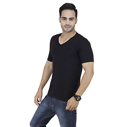 Stylogue Men's V-Neck Solid T.shirt