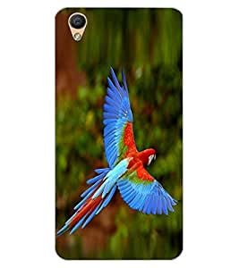ColourCraft Beautiful Parrot Design Back Case Cover for OPPO R9