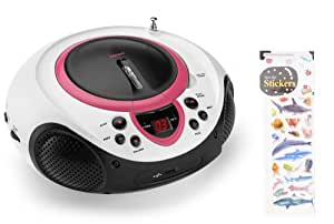 tragbarer cd player mp3 usb radio kinder m dchen amazon. Black Bedroom Furniture Sets. Home Design Ideas