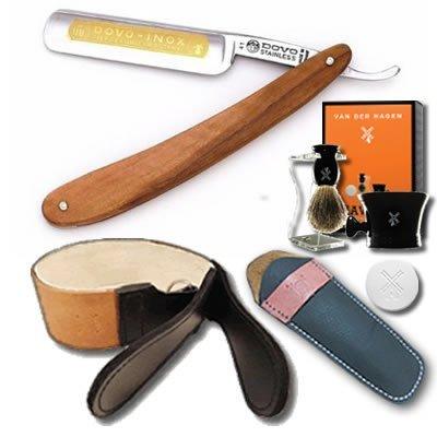 DOVO-Straight-Razor-Set-58-Olivewood-Scales-and-Luxury-Shave-Set
