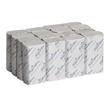 "Georgia-Pacific Signature 21000 White 2-Ply Premium Multifold Paper Towel, 9.4"" Length x 9.2"" Width (Case of 16 Packs, 125 per Pack)"
