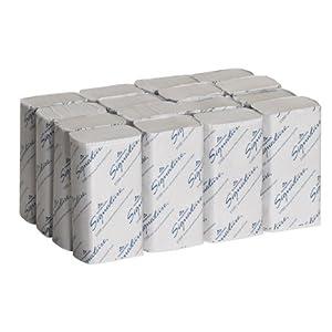 "Georgia-Pacific Signature 21000 White 2-Ply Premium Multifold Paper Towel, 9.4"" Length x 9.2"" Width (Case of 16 Packs, 125 per Pack)"