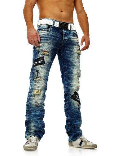 Herren Zerrissene Destroyed Jeans mit heller